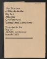 Faculty Representative for Intercollegiate Athletics. The Status of Blacks in the Big Ten Athletic Conference. (Box 22, Folder 40)