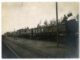 Armored train cars