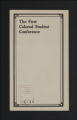 Conferences. Student Conference Materials, undated and 1890-1928. (Box 5, Folder 2)