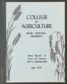 College of Agriculture, Seoul National University: Final Report by Roy O. Bridgford, 1961 (Box 65, Folder 28)