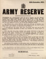 20th December, 1915. : Army Reserve : ... in the subjoined schedule, are required to report... : all claims to be pl