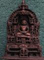Brass Jain tirthankar with copper gilt