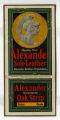 Alexander : sole leather : Alexander Brothers, Philadelphia