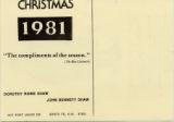 1981 Shaw Christmas Card