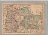 Map of Michigan, Wisconsin, Minnesota, and Iowa.