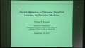 Keynote: Recent advances in outcome weighted learning for precision medicine