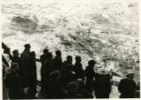 Displaced persons aboard the ship USAT (United States Army Transport)