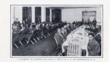 A banquet of father and sons in the YMCA of Washington D.C.