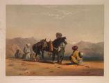 Jaunbauz. Or Afhgaun Cavalry. With horse bearing Implements for smoking.