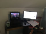 A University of Minnesota Duluth employee's home workspace