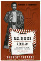 Flyer for Othello at Shubert Theatre, New York.