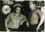 Crew members aboard the ship USAT (United States Army Transport)