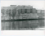 Construction of Glensheen pier and boathouse, construction materials on pier