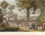 The storming of the Lefser stockade at Kemmendine near Rangoon on the 10th of June 1824.
