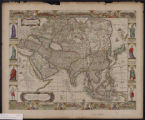 A new, plaine, and exact map of Asia : described by N.I. Vischer and rendered into English, with the habits of the countries and manner of the cheife citties