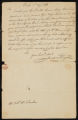 Letter from [Joel] Thayer to Robert McLenehan, stating Thayer's claim to the land.