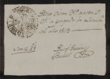 Documents and receipts relating to official work. Provenance: No location. 1819.