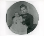 Anna Delauel Bannister with infant son Alfred Edward Bannister