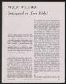 Activities, 1944-1963. Newburgh Plan. Newspaper and Magazine Coverage. (Box 31, Folder 12)