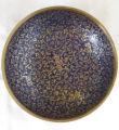 Brass plate with enamel