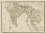 Carte geáneárale des Indes en-deça at au-dela du Gange, juin 1821