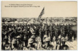 1st Division Band playing the national hymn at the Argonne cemetery on the 30th of May 1919