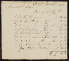 Bill of sale signed by Matw. Dill of Philadelphia, indicating the balance of Anthony Crothers for hardware items including hinges, vices and pinchers.