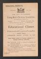 Local Association Miscellaneous Materials. London. Educational Prospectus, 1888-1889. (Box 10, Folder 7)