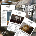 Advertisement from Vikre Distillery for at-home cocktail kits