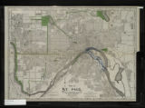 Map of St. Paul. Plate no. 8, Showing proposed change of river channel