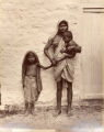 A Beggar woman and children, Bombay