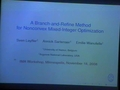 A branch-and-refine method for nonconvex mixed integer optimization