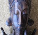 Balinese ebony wood carving of the Goddess Shri