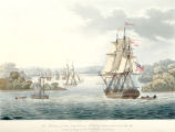 The Harbour of Port Cornwallis, Island of Great Andaman, with the fleet getting under weigh [way] for Rangoon.