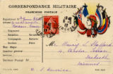 Correspondance militaire : Franchise postale : Expediteur M : Adresse : Regiment?