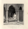 A Preacher expounding the Poorans: In the Temple of Unn Poorna, Benares.