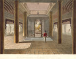 Interior view of the Gold Temple on the terrace of the Great Dagon Pagoda at Rangoon.