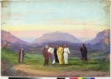 Backdrop for the ascension of Jesus Christ.