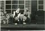 """Adele Holst, Philis Roberts, Joe Tomas, James Hillary in the UMD theatre production of the play """"Vickie"""""""