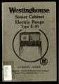 How to use the Senior Cabinet electric range : cooking guide