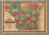 Chapman's sectional map of Wisconsin : with the most recent surveys