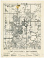 Cedar Creek Forest and Environs map, 1957
