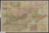 Dawson's map of the Dominion of Canada 1881