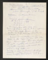 1934-1961. Notes on Interviews, 1958. (Box 3, Folder 6)