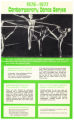 1976-1977 Contemporary Dance Series pamphlet