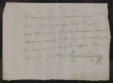Documents and receipts relating to official work. Provenance: Buenos Aires. January 8, 1805.