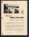 Johnson's Cedar Lake Camp, Ontario, Canada