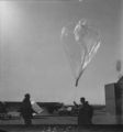 Balloon and test package ready for release and ascent; Flight 125 image 5382