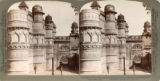 Celebrated Man Singh Palace, Gwalior, covered with carvings and enameled tiles