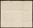 Account of taxes on lands belonging to John Adams, and formerly the property of Anthony Crothers in Buckingham Township, Wayne County.